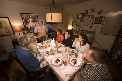 Chef Robert Lhulier and pop up dinner guests
