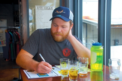 Evo's Mike Piorunski makes notes on their spring beers