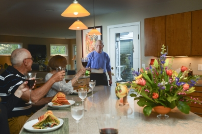 Chef Jonathan Spivak and pop up dinner guests