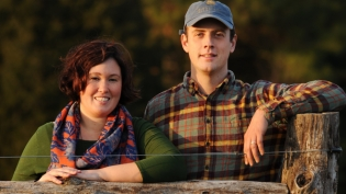 Natalie McGill and Stewart Lundy of Perennial Roots Farm