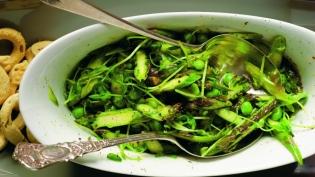 Asparagus Pea Shoot Salad