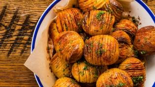 Old Bay Spiced Hasselback Baby Yukon Gold Potatoes