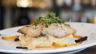 Wild Rockfish with Roasted Beets and Citrus Beurre Blanc