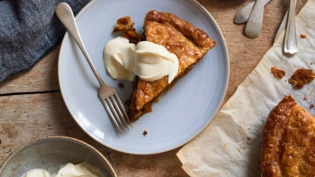 French Double Puff Cardamom Pumpkin Apple Pie